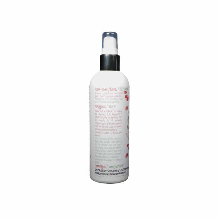 Drėkinamoji aliejinė plaukų kaukė Sveiki ir stiprūs plaukai 100 ml 200 ml naudojimo instrukcija