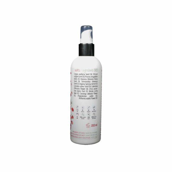 Drėkinamoji aliejinė plaukų kaukė Sveiki ir stiprūs plaukai 100 ml 200 ml sudėtis