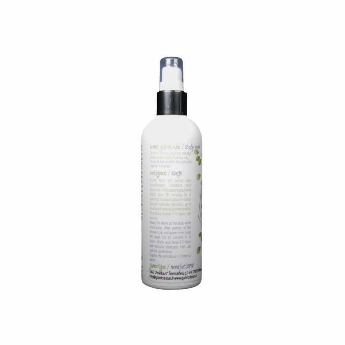 Stiprinamoji aliejinė kaukė plaukų auginimui 100 ml 200 ml naudojimo instrukcija