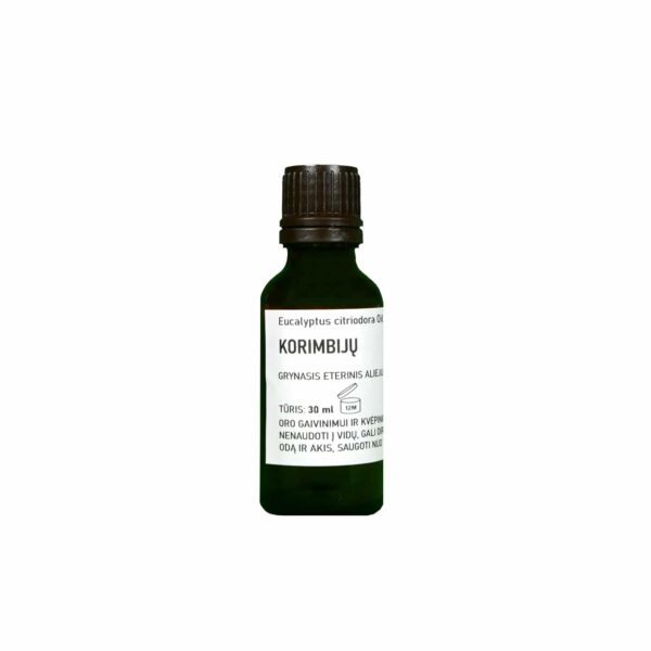 Sertifikuotas grynasis citrusinių eukaliptų korimbijų eterinis aliejus 30 ml
