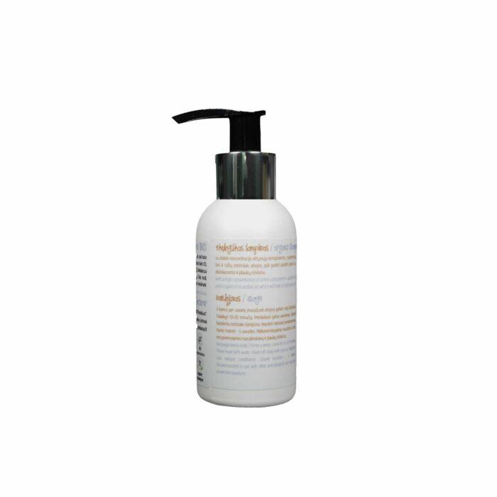 Ekologiškas šampūnas nuo pleiskanų ir plaukų slinkimo 100ml naudojimas